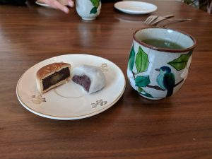 Sencha with wagashi
