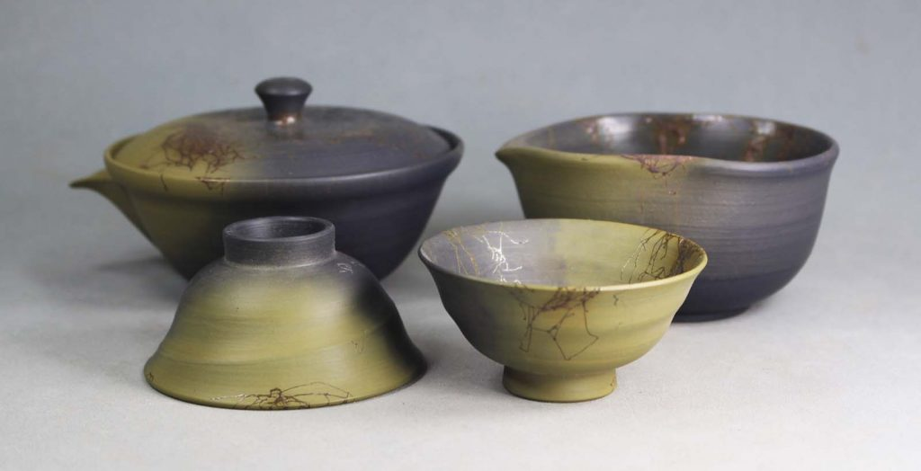 Hohin tea set from Tokoname, Aichi prefecture