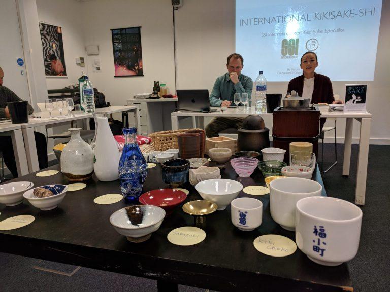 Kikisake-shi Sake Course: sakeware