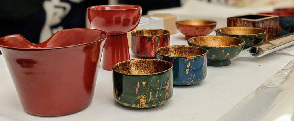 Beautiful sakeware from Miyagi prefecture