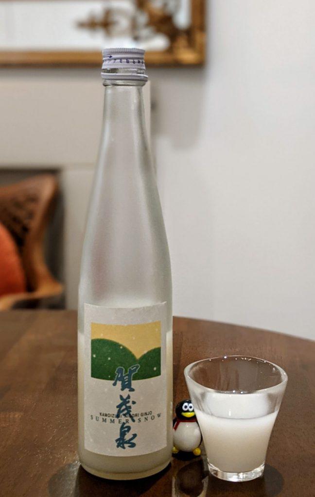 Summer sake: Kamoizumi Summer Snow Nigori Ginjo